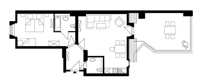 Guesthouse Goerlitz: ALBA - A-L44 Ground Plan
