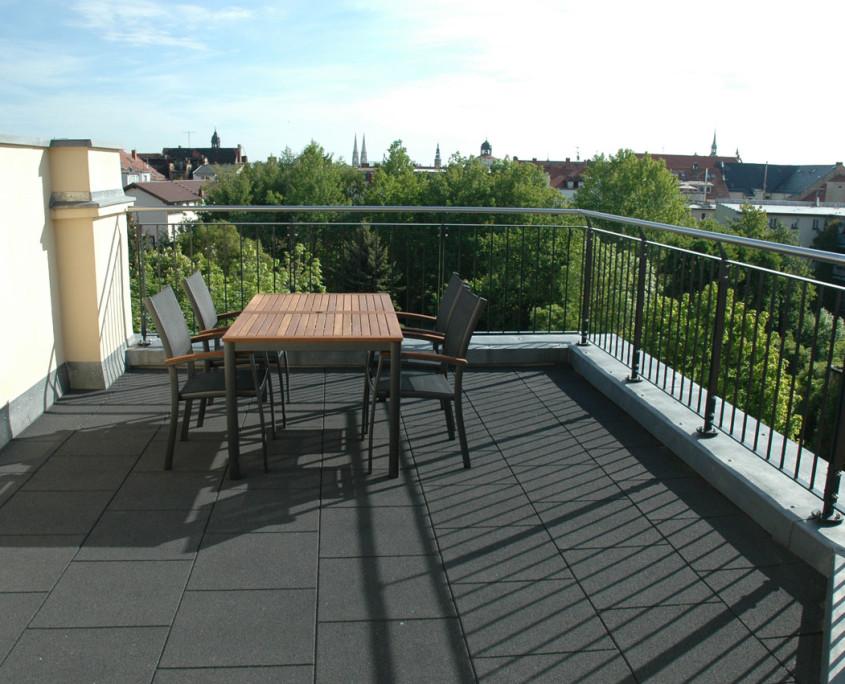 Pension Görlitz: ALBA - A-L44 Terrasse