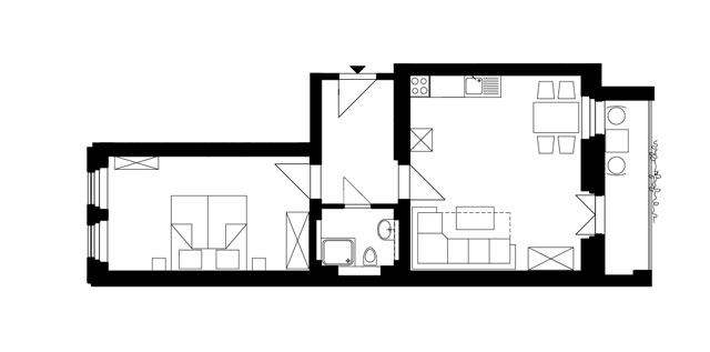 Guesthouse Goerlitz: ALBA - A-M Ground Plan
