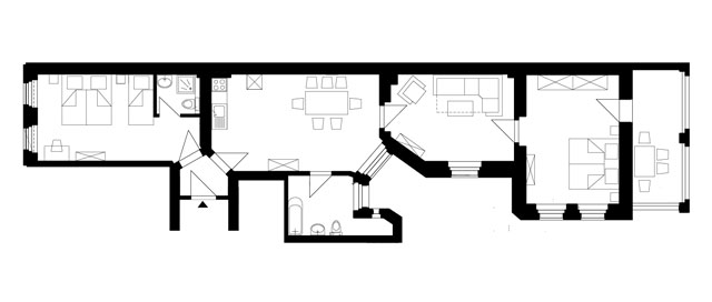Guesthouse Goerlitz: ALBA - A-XL Ground Plan