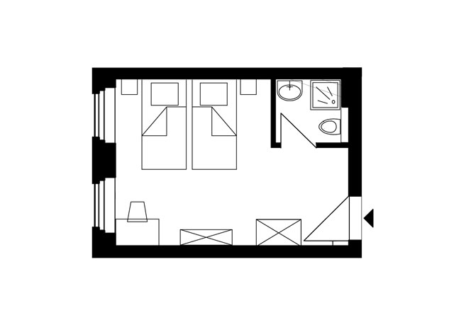 Guesthouse Goerlitz: ALBA - DZ-AS Ground Plan