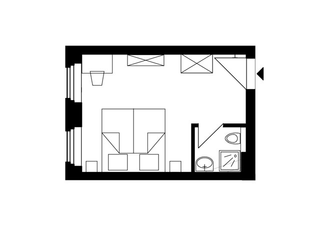 Guesthouse Goerlitz: ALBA - DZ-A Ground Plan