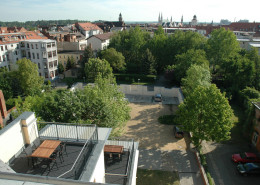Guesthouse Goerlitz: ALBA - Terraces & Parking lot